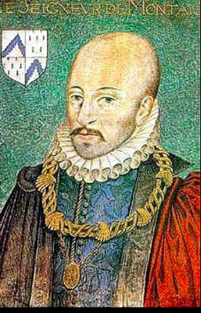 Michel de Montaigne; 1533-1592. Portrait by Dumonstier (1578)