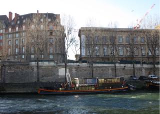 Paris.Quai of Seine.28 Dec 2016