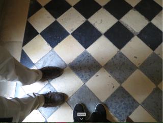 Vaux-le-Vicomte.checkered floor.Oct 2017