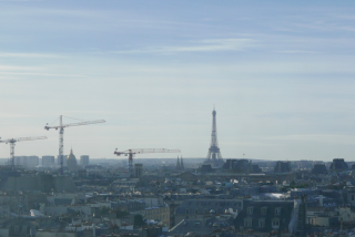 France: Feb 2018: Day 2: Eiffel Tower from Pompedieu Center