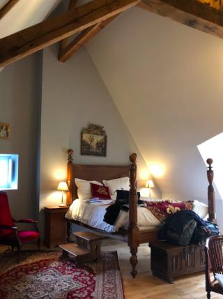 Manoir de la Touche.our attic bedroom.19Feb2018