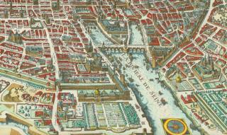 Map of Paris.Merian.1615