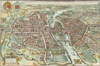 Map of Paris.de Merain. 1615