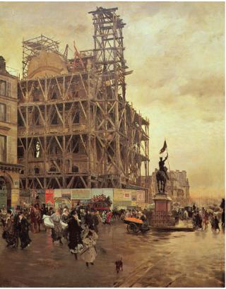 Place des Pyramides.1875.Giuseppe or Joseph de Nittis