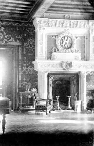 Mothe-Chandendier.Grand Salon before fire.
