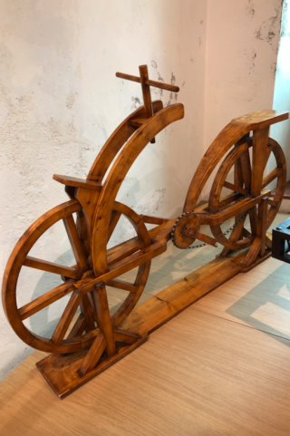 Clos Lucé. first bicycle.16FEB2018