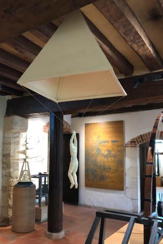 Clos Lucé.Leonardo's Parachute invention.16FEB2018