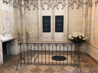 Amboise.Leonardo da Vinci's marker.14FEB2018