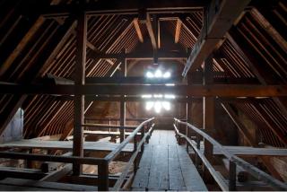 Notre-Dame de Paris.ancient oak attic.before the fire
