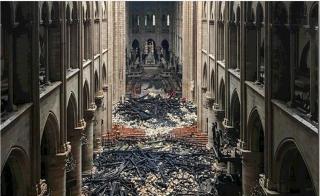 Notre-Dame de Paris.Nave after fire.15 APR2019