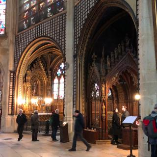 Paris.St-Etienne-du-Mont.Side chapel shrine of St Genevieve.12FEB2018