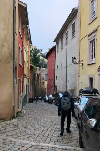 Lyon.walking down Fourvière Hill.15NOV2019