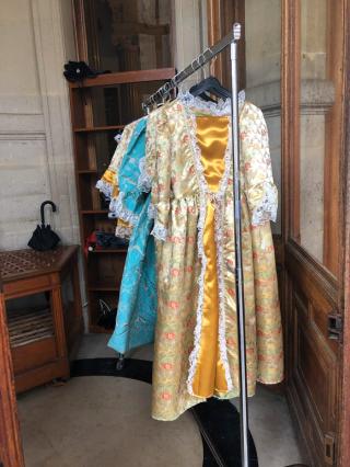 France 2019.Chateau de Chantilly.dressup clothes for little girls.3Nov2019