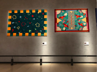Lyon.Musée des Tissus.Memphis Milano Rugs formerly owned by David Bowie.17NOV2019