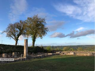 Alesia.Gallo-Roman ruins and view.7NOV2019