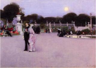 John Singer Sargent.1879. Luxembourg Garden at Twilight.