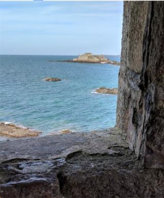St Malo.view from tour Bidouane window