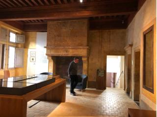 Lyon.Musee Gadagne.medieval room.16NOV2019