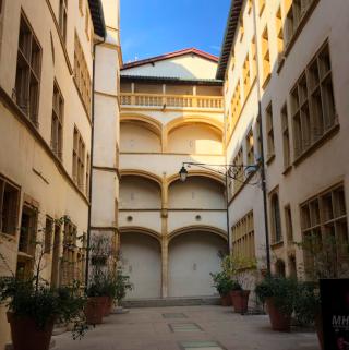 Lyon.Musee Gadagne.interior courtyard today.16NOV2019