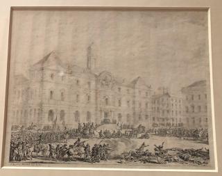 Lyon.Massacre before the hotel de ville in Lyon ordered by Herbois on 14DEC179