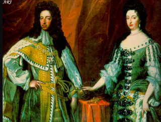King William III and Mary.c1690