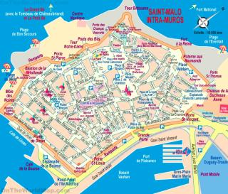 Saint Malo.Tourist map.internet