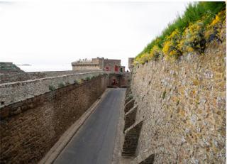 St Malo.Ramparts walk.tour Bidouane in distance.internet