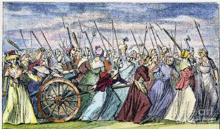 Women of Paris march on Versailles  1789.internet