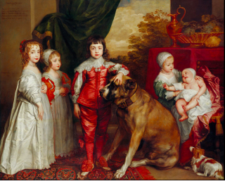The five oldest children of Charles 1st-Mary  James  Charles  Anne  Elizabeth  Anne.c1637