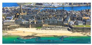 St Malo.western ramparts & Plage de Bon Secours.internet