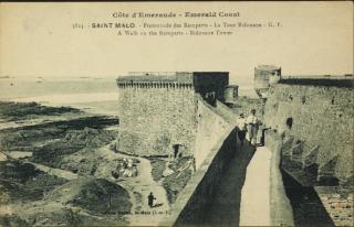 Saint-Malo.tower Bidouane.postcard c 1925