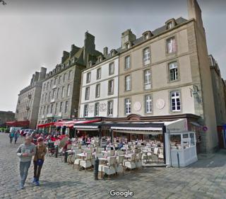 St Malo.Esplande Félicité Lamennais.google maps