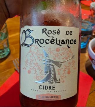 St-Malo.Creperie des Lutins.rose de Brocelianne.cider of Brittany