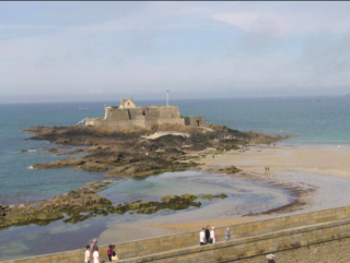 St-Malo.The view from our hotel window.Fort National.website