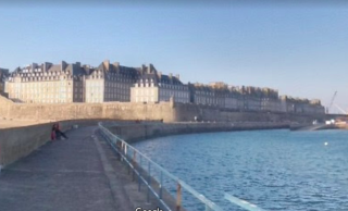 St-Malo.google view from Mole.