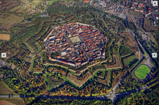 Neuf-Brisach.aerial view of modern city from wikipedia.