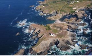 Belle Île.aerial view of pointe des poulains