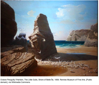 The Gulls  the shores of Belle-Île  1859  Haridon