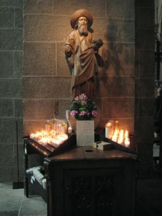 Le-Puy-en-Velay.St Jacques the pilgrim.August 2012