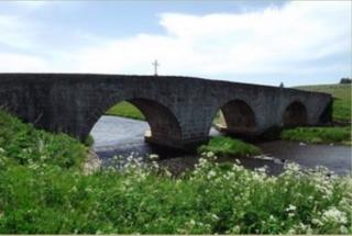 Aumont-Aubrac to Aubrac.the roman bridge  1722