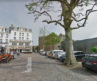 St-Malo.Place Chateaubriand.typical French view