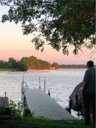 Island.July 2020. View from the dock