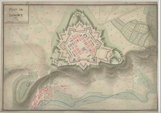 Longwy.Vauban's fortress.1745