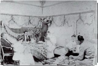 Sarah Bernhardt and Friends on Belle-Ile.photograph  c 1900