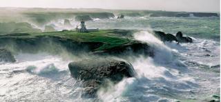 Pointe des Poulains in the wind.Philip Plisson  photographer