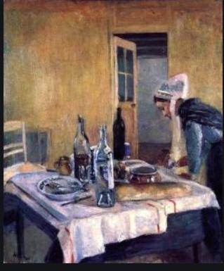 Matisse.Breton Serving Girl (Clotilde).1896