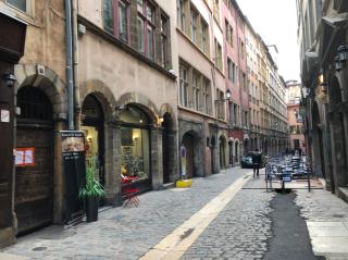 Lyon.rue Juiverie.Medieval style. Nov2019