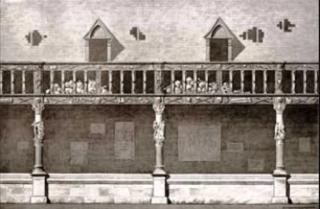 Rouen.Ossuary St-Maclou.17th century etching