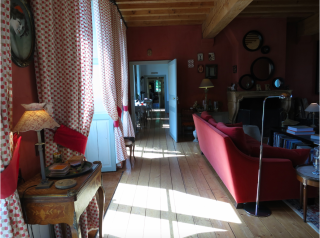 Normandy.La Reserve.enfilade from salon to kitchen.June2013