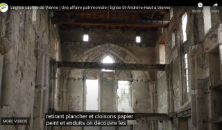 Vienne.screenshot of interior of old church.from video